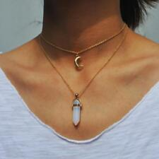 Natural opal stone moon choker necklace fashion gold color stone stone crystal p