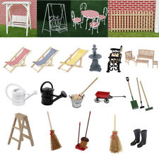 Dollhouse Miniature Garden Wooden Metal Furniture Assorted Cleaning Tools 1/12th