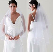 White Ivory 1Tier Wedding Veil Bride to Be Hen Night Party Fancy Dress No comb