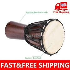 African Djembe Hand Bongo Drum Percussion Select Hardwood Body Q2X5
