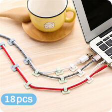 18 Pcs/pack Wall Cable Fixed Buckle Wire Organizer Cord Line Clips Self-adhesive