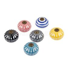 Unique Ceramic Round Cabinet Knobs Drawer Door Pull Handles Furniture Hardware