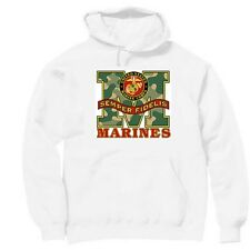 Pullover Hooded Hoodie Sweatshirt Armed Forces Marines