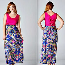 Maxi Long Dress Plus Size Womens Party Boho Beach Sundress Evening Casual 1X NWT