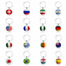 Football World Cup National Flag Exclusive Key Chain Ring For FIFA Soccer Fan CA