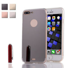 Luxury Slim Luxury Ultra-thin Soft TPU Silicone Mirror Case For iPhone 7 Plus