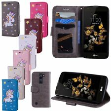 Cute Pattern Leather Card Slots Stand Wallet Flip Cover Case For LG K7/ K8/ K10
