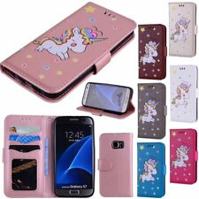 Lovely Pattern Leather Flip Stand Wallet Case Cover For Samsung Galaxy S7 S8+
