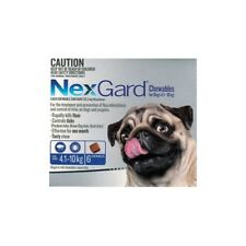 New Nexgard chewables (6) Dog 4.1 to 10 kg Pet