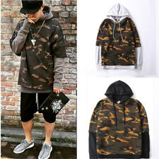 Fashion Mens Camouflage  Hip Hop Hoodie Embroidered Cotton Sweater Mens Hooded