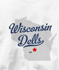 Wisconsin Dells, Wisconsin WI MAP Souvenir T Shirt All Sizes & Colors