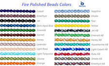 16 Inch Strand Preciosa Czech Fire Polished Glass Faceted Round Beads 3mm