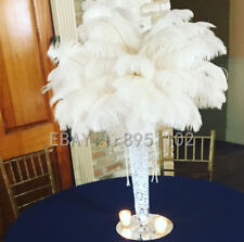 Wholesale 10/50/100PCS White Ostrich Feathers 6-8 inches/15-20cm Wedding adorn