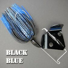 Buzzbait Rapper BLACK BLUE bass fishing buzz baits. FREE KVD trailer hook.