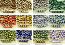 40pcs Small Teardrop Czech Glass Beads 4mm x 6mm