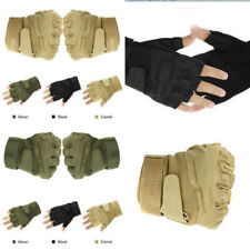 Unisex Military Tactical Outdoor Hunting Cycling Sports Finger Less Gloves
