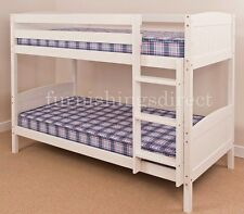 3FT SINGLE, 2FT6 SHORTY WHITE, ANTIQUE, NATURAL PINE BUNK BED - MATTRESS OPTIONS