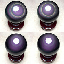 54mm NATURAL Unique rainbow OBSIDIAN POLISHED SPHERE BALL Distinctive+STAND