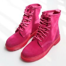 Short Women Martin Boots Fashion Lace Up Punk Suede Shoes Flats Casual Boots New