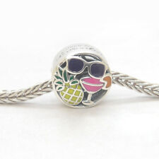 Authentic Genuine S925 Sterling Silver Summer Fun Mixed Enamels Bead Charm
