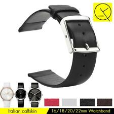 Genuine Leather Watch Band Strap Durable Watchband for Watch Black White Red
