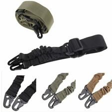 Adjustable Hunting One Point Rifle Sling Bungee Tactical Shotgun Strap Syste #O