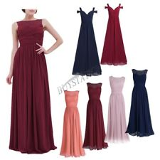 Women Formal Wedding Bridesmaid Long Evening Party Ball Prom Cocktail Maxi Dress