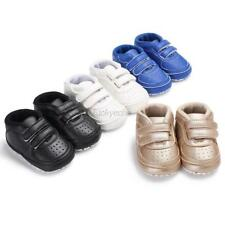 Newborn Baby Toddle Shoes Boy Girl Soft Sole Sneaker Crib Shoes Size 0-18 months
