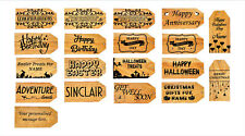 Personalised Wooden Gift tags and Luggage tags