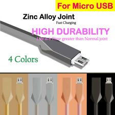 1M Micro USB Zinc Alloy Fast Charging Data Sync Charger Cable Cord For Android