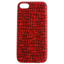 Luxury Red Crocodile Pattern Hard Skin Phone Case Cover for iPhone 7 7 Plus