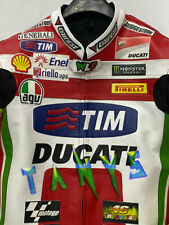 BRAND NEW DUCATI MOTORCYCLE MOTO GP MOTORBIKE RACING LEATHER REPLICA JACKET