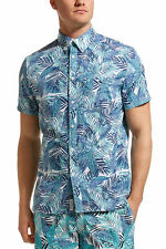 NEW JAG MENS Paradise Palm Print Shirt Casual Shirts