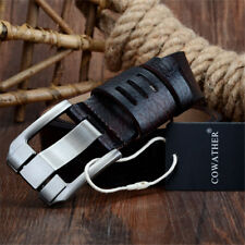 New Belts Quality Cow Genuine Luxury Leather Men Strap Male BIG Pin Buckle
