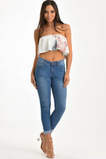 ROSA BLUE HIGH WAISTED WASHED DENIM JEANS