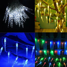 40LED Hanging Snowing Icicle String Lights Christmas Tree Decoration Window New