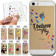 TPU Rubber Cover Silicone Soft Back Skin Glitter Case For Apple iPhone SE/5/5S