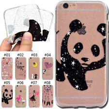 Rubber TPU Silicone Shine Glitter Soft Back Skin Case Cover For Apple iPhone 6S