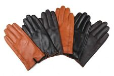 Mens Genuine Leather Gloves Touch Screen Lined Fashion Thermal Warm for Winter