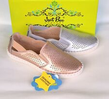 Leather slip on comfort flats Just Bee Shoes Clique