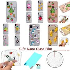 FASHION GLITTER BLING RUBBER CLEAR TPU SOFT GEL Back Case Cover For Apple iPhone