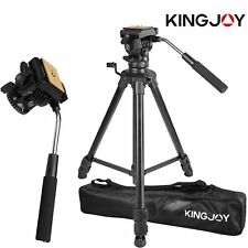 Professional Heavy Duty Video Camera Tripod with Fluid Pan Head Kit 65' Inch OE
