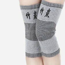 1 Pairs Bamboo Fiber Charcoal Compression Pain Arthritis Knee Brace HGH-998