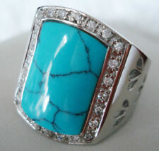 Men Style Rings Agate Turquoise Jade Moonstone Fashion Jewelry Ring For Men Gift