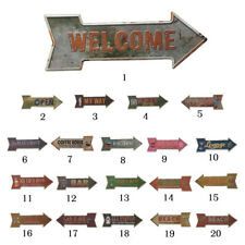 Retro Arrow Shape Metal Tin Sign Wall Decor Bar Plaque Pub Home Cafe Shop Tavern