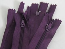 "10 X CLOSED END NYLON ZIP ZIPPERS  Autolock Zips 12"" 30 cm -VARIETY OF COLOURS-"