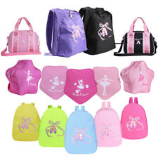 Girls Ballet Dance Bag Embroidered Kids Shoulder Gym Bags Dance Backpack F Child
