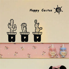 Cute Happy Sunshine Cactus Mural Decal Vinyl Removable Wall Sticker Home Decor