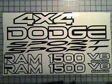 Dodge 1500 Ram Sport 4x4 Replacement Decal Kit - Many Color Choices