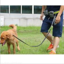 Adjustable Elastic Hands Free Dog Lead Walk Running Jogging Waist Belt Leash Bag